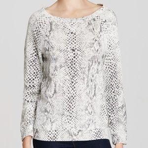 Soft Joie Gray Darilyn B. Snake Print Sweatshirt